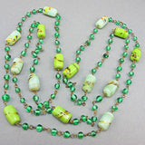 Vintage Czech Glass Beads necklace chain links