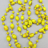 Vintage czech glass beads mustard yellow