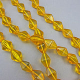 Vintage czech glass beads faceted strand