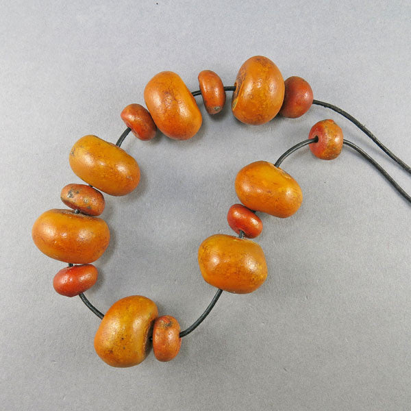 Vintage Faux Amber Beads Copal Beads Moroccan Beads African Beads Old Beads UK
