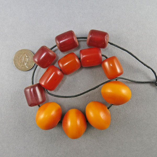 Vintage Faux Amber Beads African Beads Moroccan Beads African Jewelry Supplies