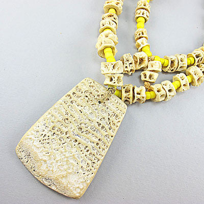 Vintage ethnic jewellery  fish bone necklace