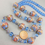 vintage lampwork beads necklace venetian glass beads