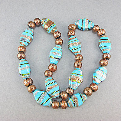 Vintage lampwork beads and aventurine beads