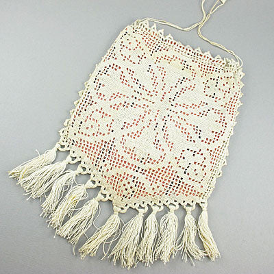 Old textiles purse crochet lace
