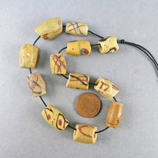 African Trade Beads 12 Akoso Bodum Beads Ghana Powder Glass Beads