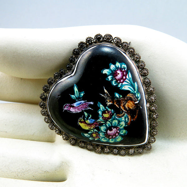old ethnic jewelry vintage persian brooch