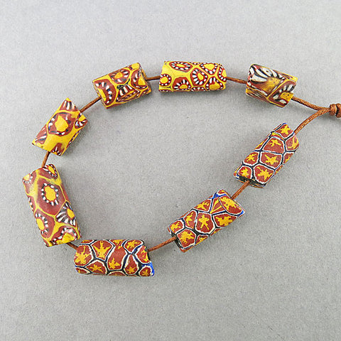 Antique millefiori trade beads venetian glass beads