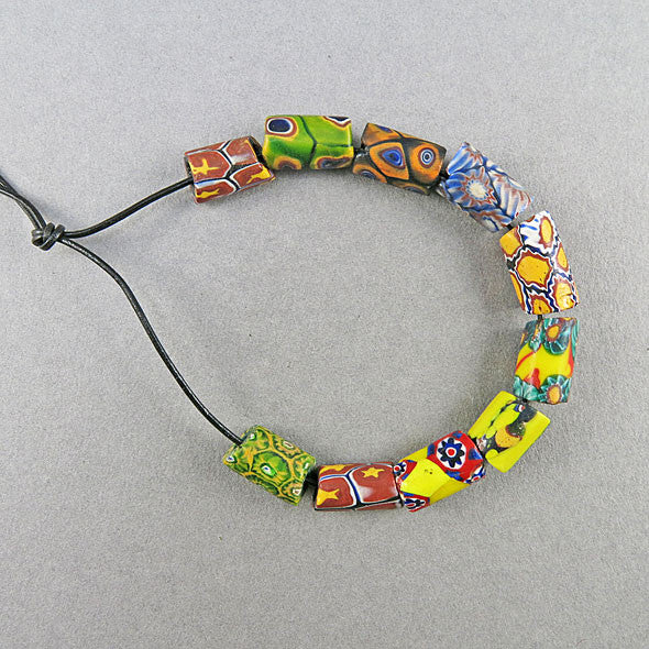 Antique Millefiori Beads African Trade Beads 10 Venetian Glass Beads UK