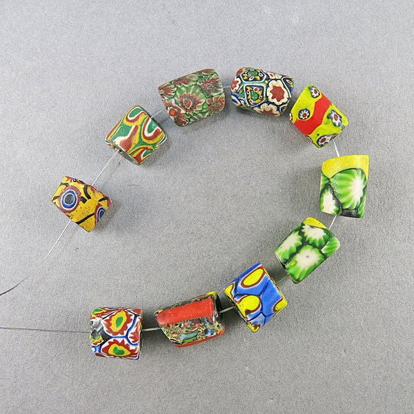 OLd Millefiori Trade Beads 10 Venetain Glass Beads Antique Beads UK