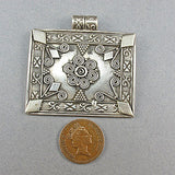 Vintage jewellery mexican silver pendant