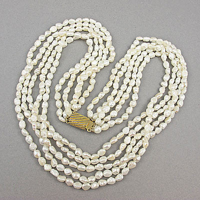 Vintage pearl beads necklace fresh water