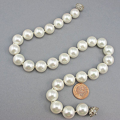 Vintage south sea oyster shell beads necklace