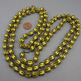Vintage plastic beads necklace metalic gold colour