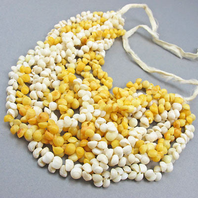 vintage seed beads necklace shells