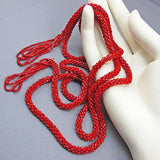 Vintage seed beads necklace flapper sautior
