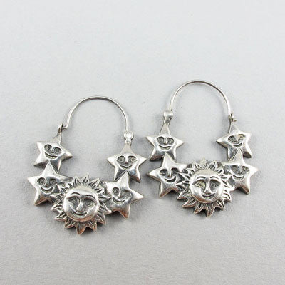 Pair vintage silver jewellery earings