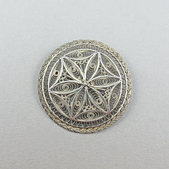 Vintage silver jewellery brooch fab filigree