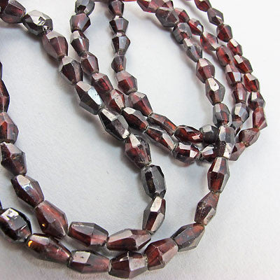 antigue semi precious stone  necklace victorian garnet beads