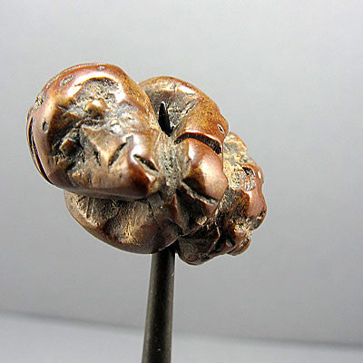 Unusual bead carved monkey