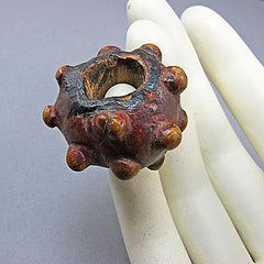 Antique unusual bead chinese toggle