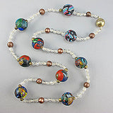 Vintage glass beads necklace millefiori mix