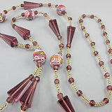 Vintage Beads Necklace Venetian Glass Beads Amethyst
