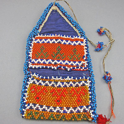 folded ethnic vintage beaded bag