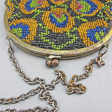 Vintage beaded bag multi coloured