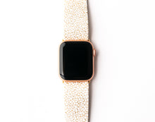 Load image into Gallery viewer, White and Gold Speckled Watch Band