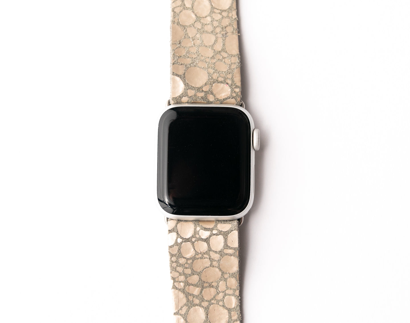 Pebbles in Platinum Watch Band