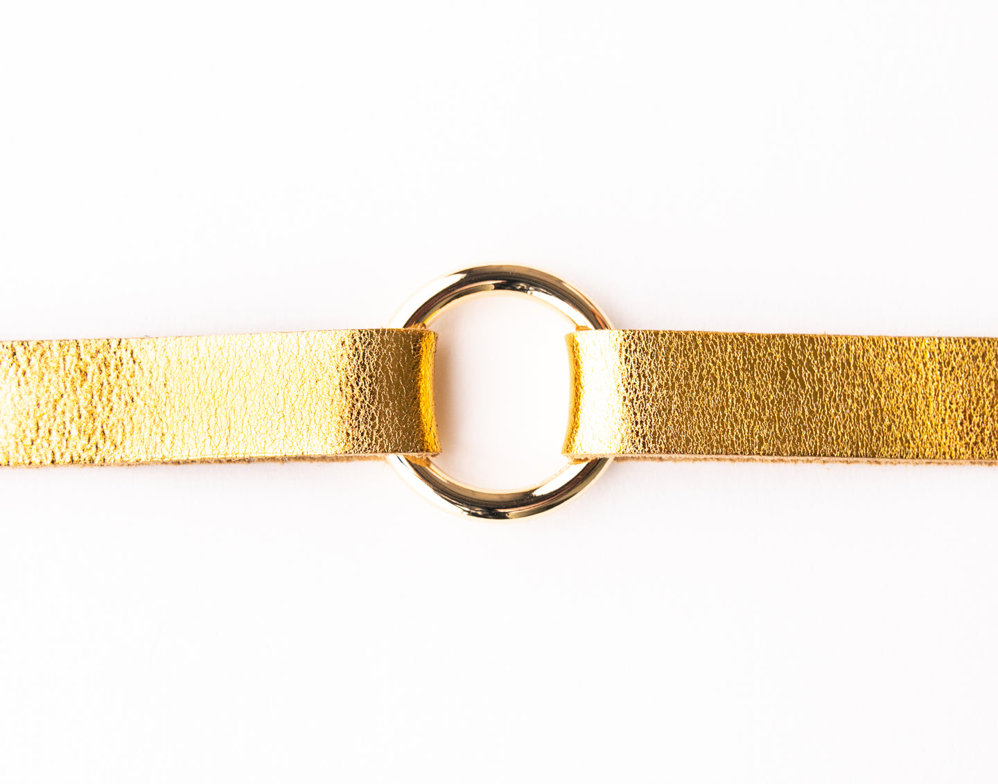 Gold Shimmer Leather Bracelet