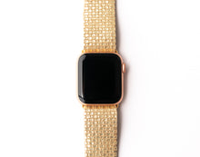 Load image into Gallery viewer, Gold Cobblestone Watch Band