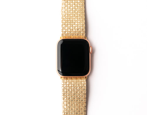 Gold Cobblestone Watch Band