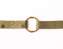 Load image into Gallery viewer, Starburst Green Leather Bracelet