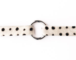 Spotted in Black Leather Bracelet