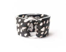 Load image into Gallery viewer, Spotted in White Leather Cuff