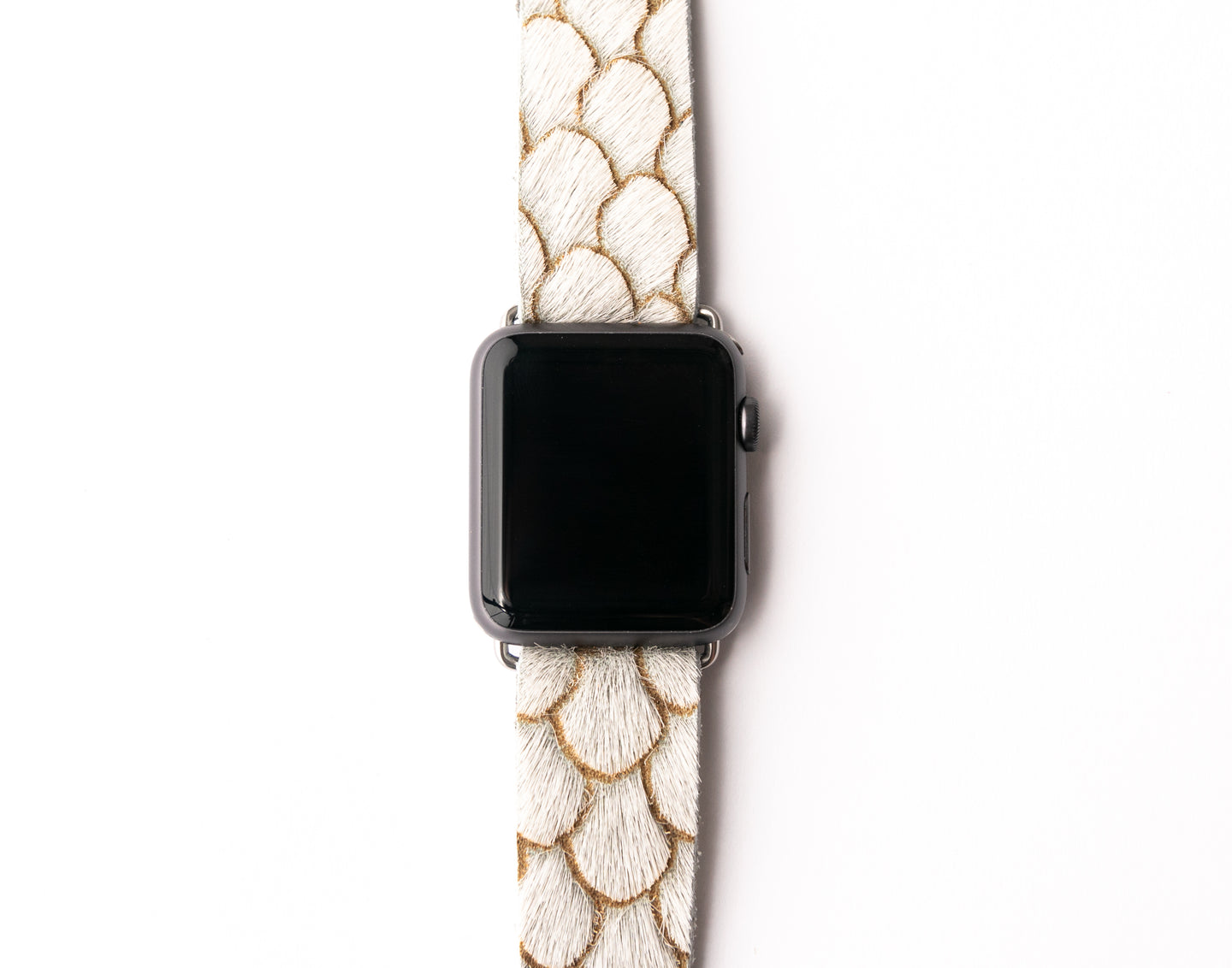 Scalloped in Taupe Watch Band