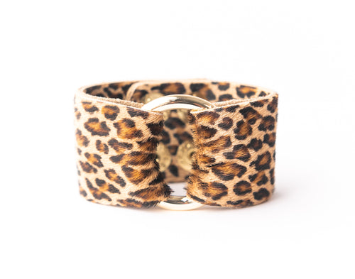 Cheetah Leather Cuff