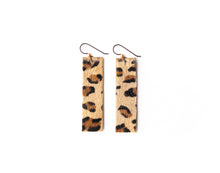 Load image into Gallery viewer, Leopard Four Corners Leather Earrings