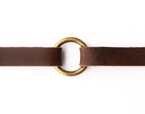 Classic Dark Brown Leather Bracelet