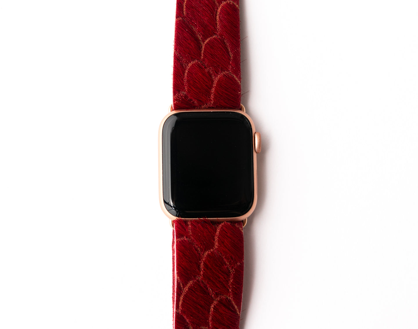 Scalloped in Red Watch Band