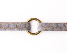 Load image into Gallery viewer, Scalloped in Gray Leather Bracelet