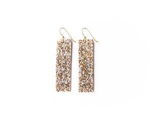 Sparkle in Gold Leather Earrings | LIMITED EDITION