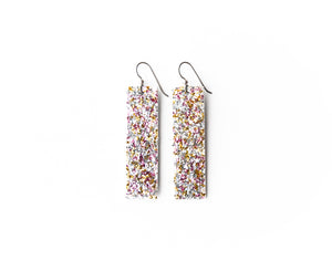 Sparkle in Rose Leather Earrings | LIMITED EDITION