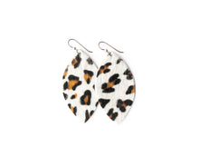 Load image into Gallery viewer, Leopard in White Leather Earrings