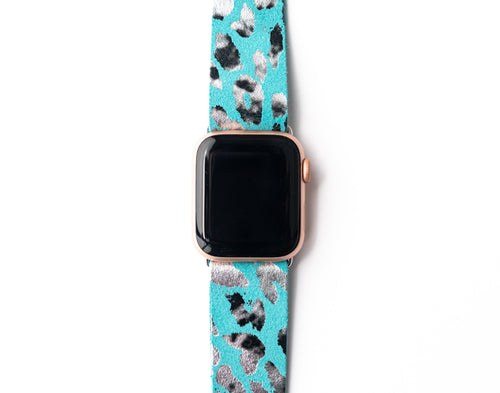 Cheetah in Turquoise Watch Band
