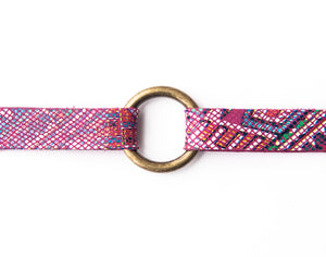 Raspberry Beret Leather Bracelet