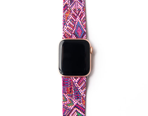Raspberry Beret Watch Band