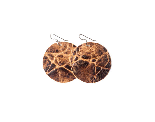 Brown's Island Leather Earrings